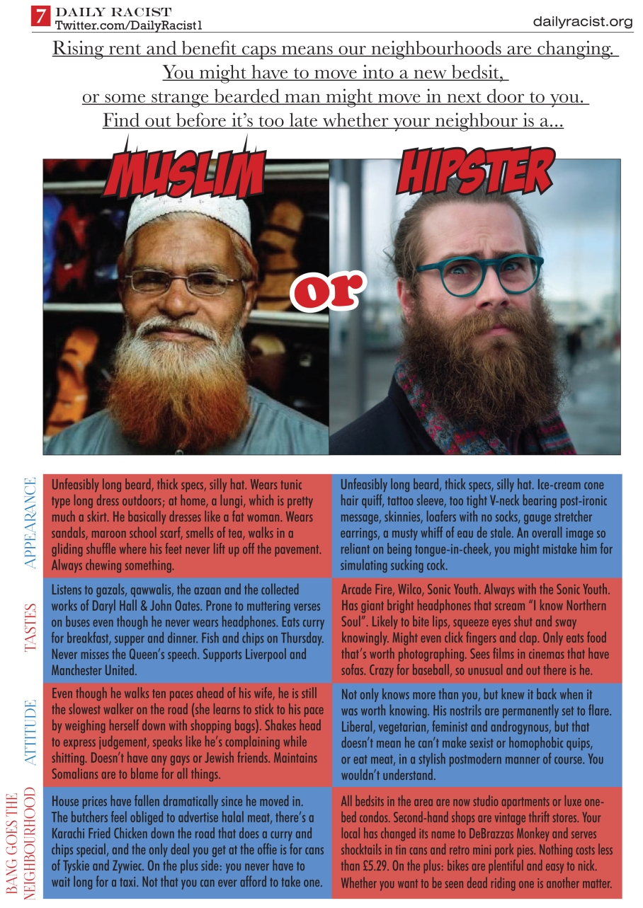 MUSLIM OR HIPSTER?